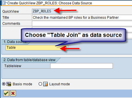 Table Join as Datasource in SQVI
