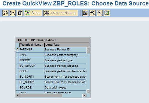 SAP CRM Table BUT000