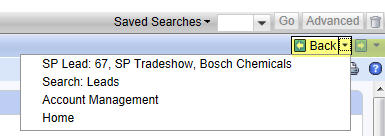 History Buttons in SAP CRM