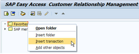 Insert Transaction In SAP Favorites